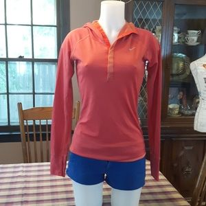 Nike Dri-FIT Orange thumbhole top